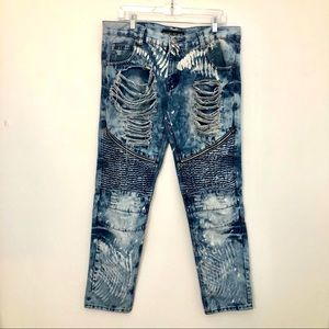 GS 115 Denim Size 34 Ripped & Distressed Jeans!